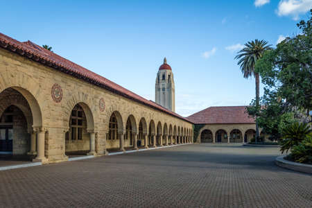 Stanford University Campus and Hoover Tower - Palo Alto, California, USA Editorial