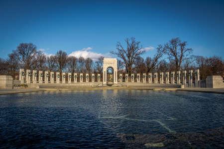 lincoln memorial: World War II Memorial - Washington, DC, USA Stock Photo