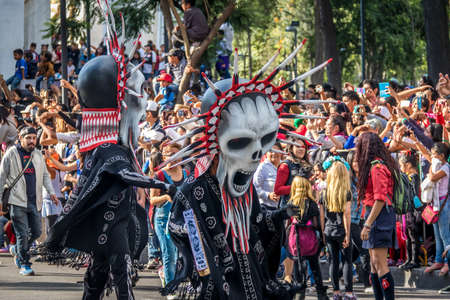 Day of the Dead (Dia de los Muertos) parade in Mexico city - Mexico