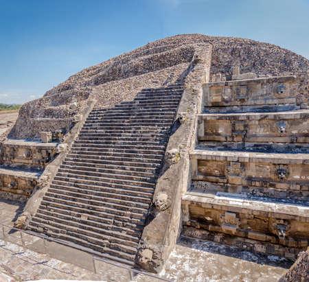 Quetzalcoatl Pyramid at Teotihuacan Ruins - Mexico City, Mexico Stock Photo