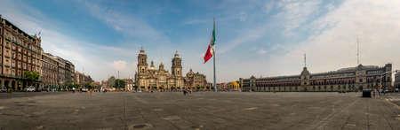 Vue panoramique de Zocalo et la cathédrale - Mexico, Mexique Banque d'images - 76821056