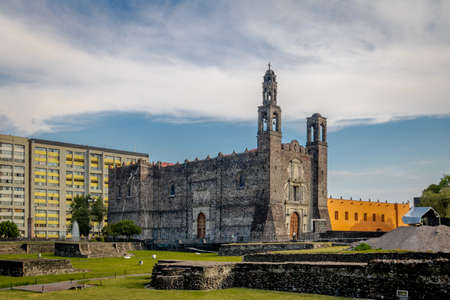 Plaza de las Tres Culturas (Three Culture Square) at Tlatelolco - Mexico City, Mexico 免版税图像