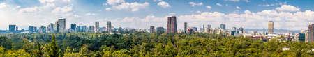 Panoramisch zicht op Mexico-stad Stockfoto