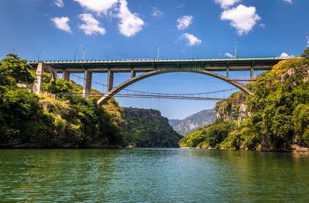 Bridge over the Sumidero Canyon - Chiapas, Mexico Stock Photo