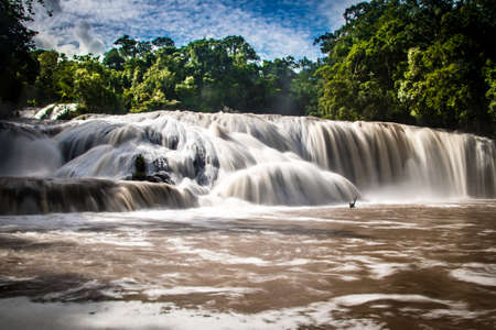 azul: Agua Azul Waterfalls - Chiapas, Mexico