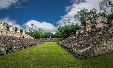 볼 마당 유적 - Copan 고고학 사이트, 온두라스 스톡 콘텐츠