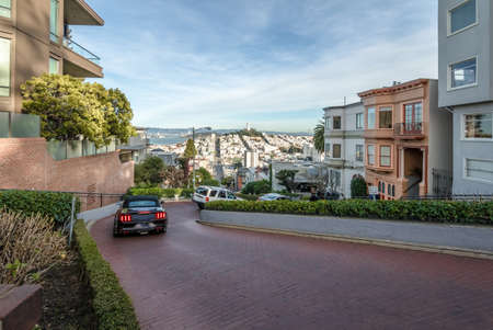 Lombard Street - San Francisco, California, USA Stock fotó