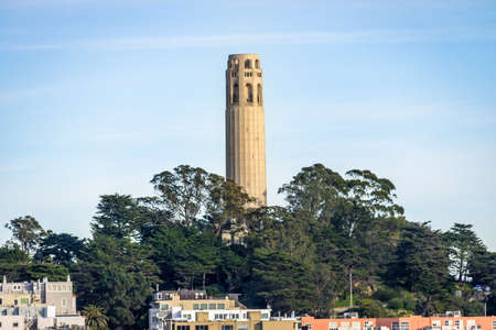 telegraph hill: Coit Tower - San Francisco, California, USA Stock Photo