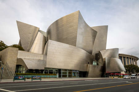 월트 디즈니 콘서트 홀 - 로스 앤젤레스, 캘리포니아, 미국 에디토리얼