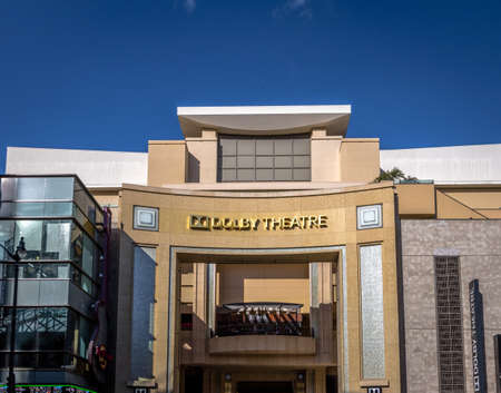 Dolby Theater on Hollywood Boulevard - Los Angeles, California, USA Editorial