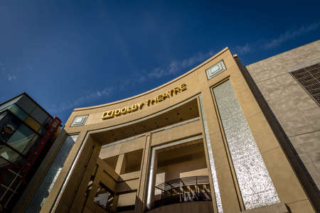 dolby: Dolby Theater on Hollywood Boulevard - Los Angeles, California, USA Editorial