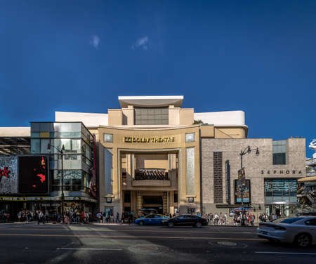 Dolby Theater on Hollywood Boulevard - Los Angeles, California, USA Redactioneel