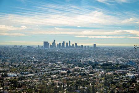 pasadena: Downtown Los Angeles skyline view - Los Angeles, California, USA Stock Photo