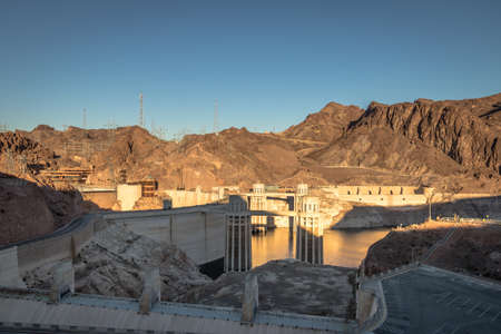 Hoover Dam at Arizona - Nevada Border, USA
