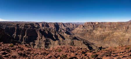 Panoramic view of Grand Canyon West Rim and Colorado River - Arizona, USA