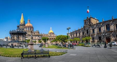 과달라하라 성당 및 주 정부 궁전 - 과달라하라, 할리 스코, 멕시코 에디토리얼