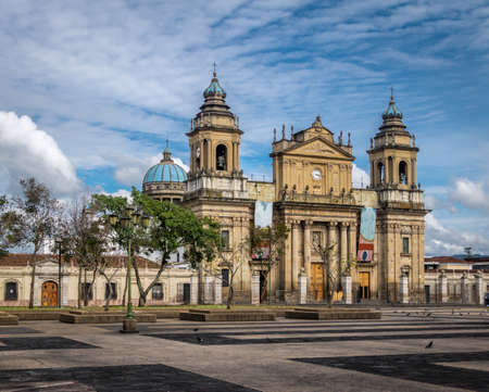 Guatemala City Cathedral - Guatemala City, Guatemala 免版税图像