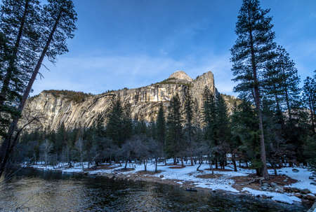 Yosemite Valley Rock Formations at winter - Yosemite National Park, California, USA