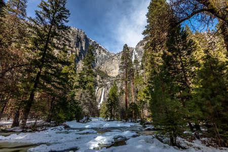 sequoia: Upper and Lower Yosemite Falls - Yosemite National Park, California, USA