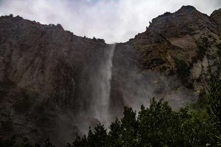 bridalveil fall: Yosemite Fall at Winter - Yosemite National Park, California, USA