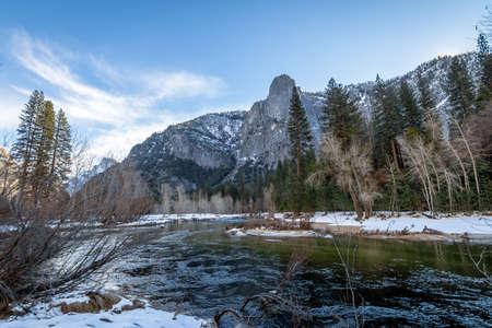sequoia: Yosemite Valley Rock Formations at winter - Yosemite National Park, California, USA