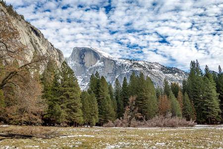 sequoia: Half Dome at winter  - Yosemite National Park, California, USA
