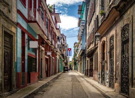 Old Havana Street downtown - Havana, Cuba Stock Photo