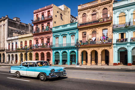 Old Havana Street downtown - Havana, Cuba Editorial