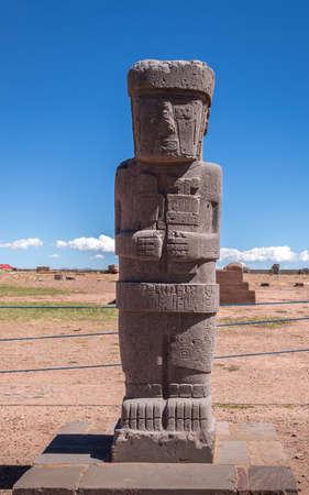 ティワナク (ティアワナコ) コロンブス遺跡 - La Paz, ボリビアの古代像
