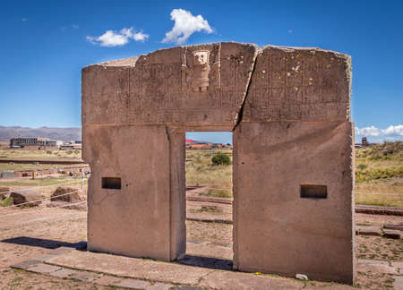Gate of the Sun at Tiwanaku (Tiahuanaco), Pre-Columbian archaeological site - La Paz, Bolivia Editorial