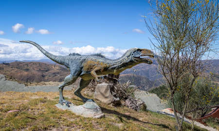 Dinosaur Model in Cretaceous Park of Cal Orcko - Sucre, Bolivia