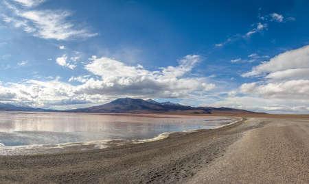 Laguna Colorada (Red Lagoon) in Bolivean altiplano - Potosi Department, Bolivia