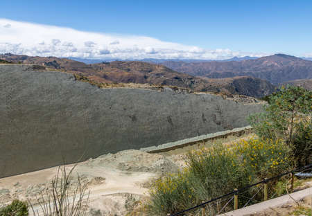 Dinosaur tracks on Cal Orcko Wall - Sucre, Bolivia