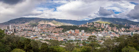 medellin: Panoramic view of Medellin, Colombia