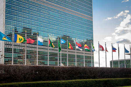 Flags at United Nations Headquarters - New York, USA
