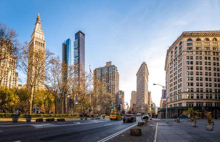 아이언 빌딩 - 뉴욕시, 미국 스톡 콘텐츠
