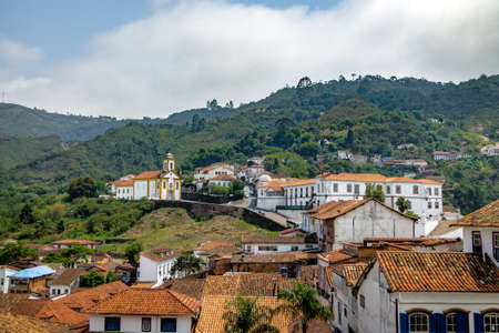senhora: Ouro Preto City and Merces de Cima Church  - Ouro Preto, Minas Gerais, Brazil