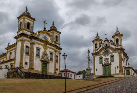 Sao Francisco de Assis Kerk en Nossa Senhora do Carmo Sanctuary - Mariana, Minas Gerais, Brazilië