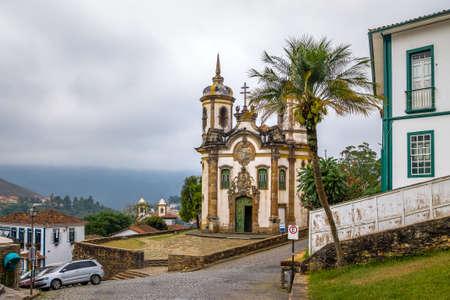 Sao Francisco de Assis Kerk in Ouro Preto - Minas Gerais, Brazilië