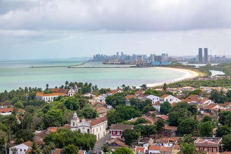 Aerial view of Olinda and Recife skyline - Olinda, Pernambuco, Brazil