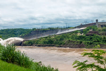 Spillway of Itaipu Dam - Brazil and Paraguay Border