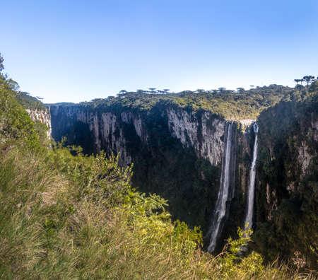 Waterfall of Itaimbezinho Canyon at Aparados da Serra National Park - Cambara do Sul, Rio Grande do Sul, Brazil