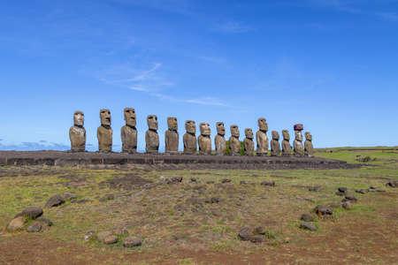 Estatuas Moai de Ahu Tongariki - Isla de Pascua, Chile