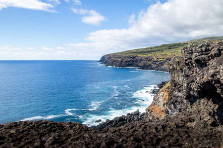 rapanui: Rocky Coast of Easter Island - Easter Island, Chile