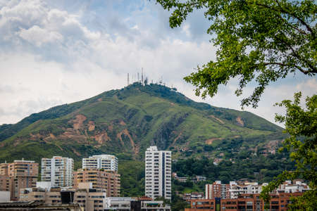 Hill of Three Crosses (Cerro de Las Tres Cruces) and Cali city view - Cali, Colombia