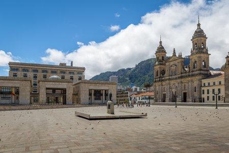 ボリバル広場大聖堂、コロンビア パレス オブ ジャスティス - ボゴタ, コロンビア 報道画像