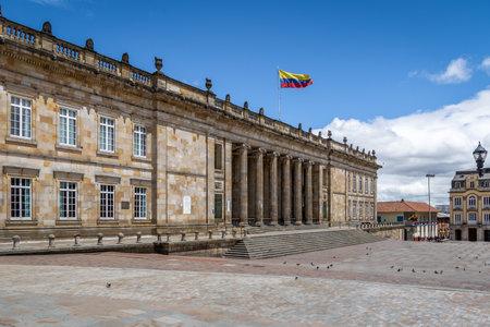 콜롬비아 국회 의사당 및 의회 볼리바르 광장에 위치한 - 보고타, 콜롬비아
