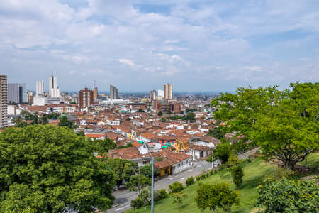 Aerial view of Cali city - Cali, Colombia 写真素材