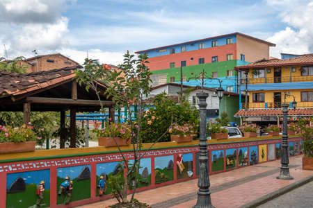 antioquia: Colorful houses - Guatape, Antioquia, Colombia