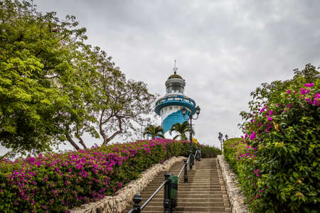 Lighthouse on top of the 444 stairs of Santa Ana Hill staircase - Guayaquil, Ecuador